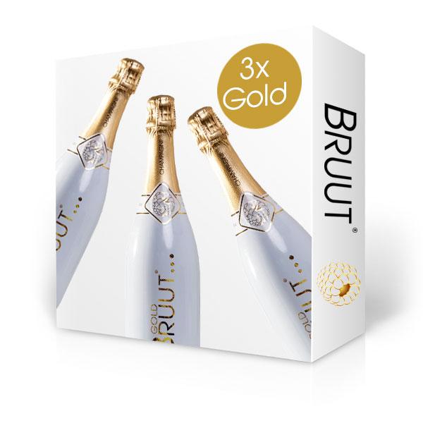 BRUUT Gold champagne, doos 3 flessen