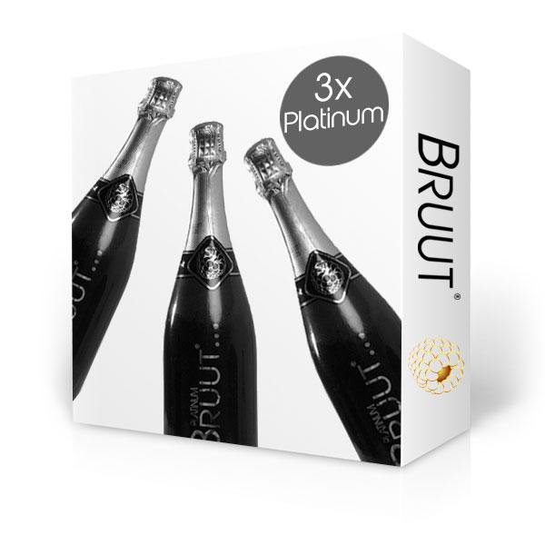 BRUUT Platinum champagne, doos 3 flessen